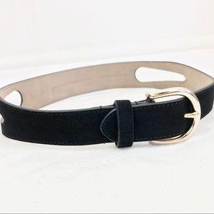 LOFT Suede Leather Cut Out Belt